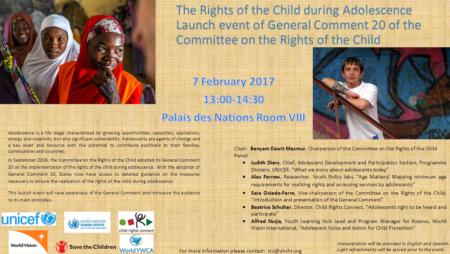 Комментарий 20 официально представлен в Женеве 7 февраля 2017