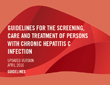 Guidelines for the care and treatment of persons diagnosed with chronic hepatitis C virus infection