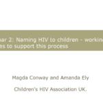 Анонс вебинара: «Как рассказать о ВИЧ-статусе ребёнку: поддерживающая работа с семьями» Магды Конвей и Аманды Эли