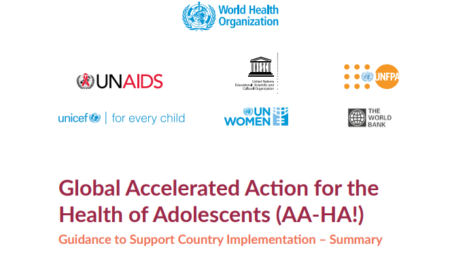 Global accelerated action for the health of adolescents (AA-HA!): guidance to support country implementation: summary