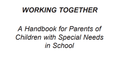 Working together : a handbook for parents of children with special needs in school (2004)