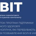 Звіт за результатами скринінгового опитування в рамках компоненту «Розвиток програм підтримки психічного здоров'я неповнолітніх, які перебувають у місцях позбавлення волі в Україні» (2021 р.)